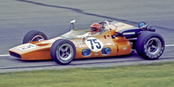 Carl Williams at Indy in 1970 in the McLaren M15A. Copyright Kenneth Lawrence  2010. Used with permission.