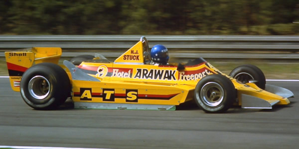 Hans Stuck's best result in the ATS D2 was this drive to eighth place at the 1979 Belgian Grand Prix. Copyright Martin Lee  2017. Used with permission.