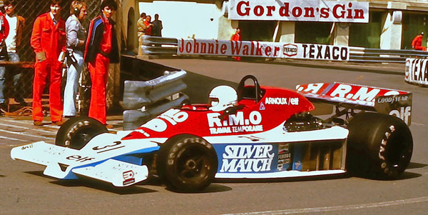 Rene Arnoux and the Martini MK23 did not get through pre-qualifying at the 1978 Monaco GP. Copyright Martin Lee  2017. Used with permission.
