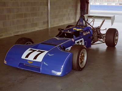 Nick Crossley's Chevron B20 in the pits at Silverstone for the HSCC meeting in August 1995. Copyright Keith Lewcock  2016. Used with permission.