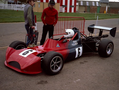 Paul Tickner's March 713M, seen here at Silverstone in 1985 looking a lot like a 733. Copyright Keith Lewcock  2019. Used with permission.