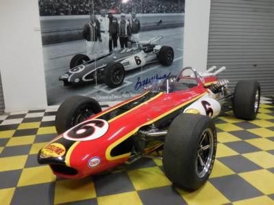 Aaron Lewis's ex-Bobby Unser 1967 Eagle following restoration. Copyright Aaron Lewis 2014. Used with permission.