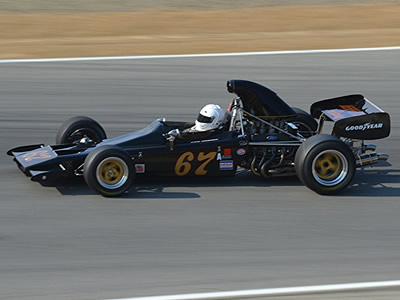 David Arrowsmith in his restored Lotus 70B at Monterey in August 2015. Copyright Randy Lloyd 2017. Used with permission.
