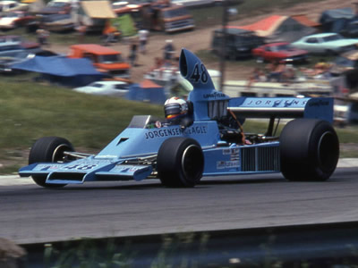 Bobby Unser in the AAR Jorgensen Eagle 755 F5000 at Mosport Park in 1975. Copyright Norm MacLeod  2017. Used with permission.