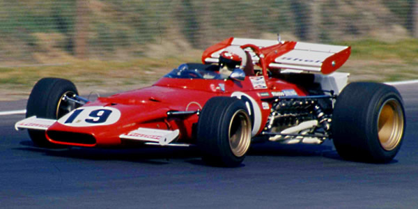 Clay Regazzoni in his Ferrari 312b at the 1970 Canadian Grand Prix. Copyright Norm MacLeod  2017. Used with permission.