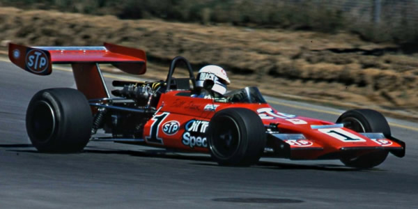 Bill Brack in his modified Lotus 59 at Trois-Rivi?res in September 1974.  Copyright Norm MacLeod 2015.  Used with permission.