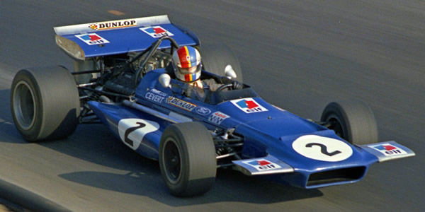 François Cevert in the Elf-Tyrrell team's March 701 at the 1970 Canadian Grand Prix. Copyright Norm MacLeod 2007. Used with permission.