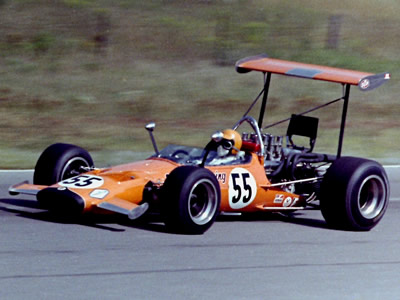 Roger McCaig in his brand new McLaren M10A at Mosport Park in August 1969. Copyright Norm MacLeod  2016. Used with permission.