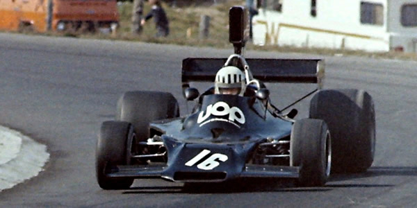 Tom Pryce in his Shadow DN3 at Mosport Park in 1974. Copyright Norm MacLeod 2016. Used with permission.