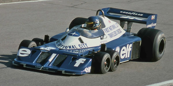 Ronnie Peterson in the Tyrrell P34 at the Canadian GP in 1977. Copyright Norm MacLeod  2017. Used with permission.