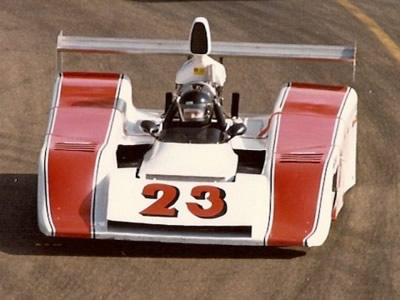 Duane Eitel in the 'MLR' former Chevron B24/28 at Edmonton in 1981. Copyright Brent Martin  2010. Used with permission.