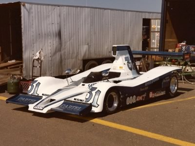 The smart Lola T332 of Gerre Payvis in the paddock at Edmonton in 1981. Copyright Brent Martin  2010. Used with permission.