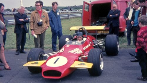 Tommy Reid in his Brabham BT30 at Kirkistown in 1970.  Copyright Julian Massey 2010.  Used with permission.