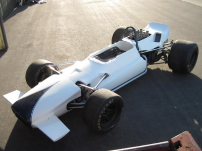 Don McGreevey's restored Lola T142 in December 2013. Copyright Don McGreevey  2013. Used with permission.