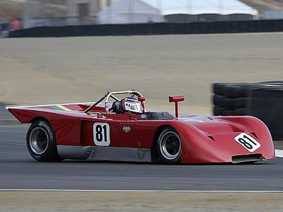 Roy Walzer in the Chevron B16S at Laguna Seca in 2008 . Copyright Pieter Melissen 2009. Used with permission.