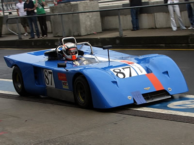 Dirk Waaijenberg in his Chevron B19 in June 2009. Copyright Pieter Mellison 2009. Used with permission.