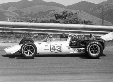 Skeeter McKitterick in his 1968/69 FA Eagle at Laguna Seca in 1972.  Copyright Al Moore 2002.  Used with permission.