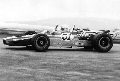 Ronnie Bucknum in the Priester/Eisert T190 at Laguna Seca 2 May 1971. Copyright Al Moore  2003. Used with permission.