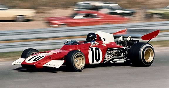Jacky Ickx in the Ferrari 312B2 at Mosport Park in 1972.  Copyright Robert Murphy 2009.  Used with permission.