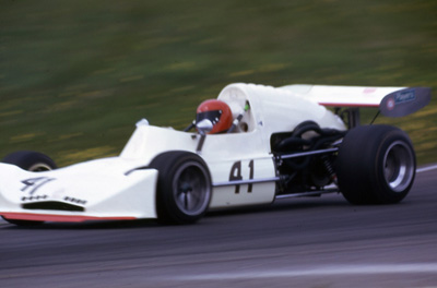 Bruce Jensen in his very standard March 74B at Edmonton in 1974. Copyright owned by the Northern Alberta Sports Car Club  2019. Used with permission.
