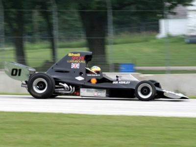 Hamish Somerville in his Lola T400 at Road America in July 2008. Copyright Rob Neuzel  2008. Used with permission.
