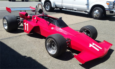 Dave Rugh's Brabham BT40 at Thunderhill in May 2016. Copyright Tony Nicholson 2016. Used with permission.