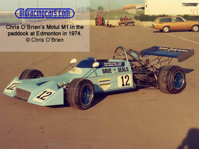 Chris O'Brien's Rondel M1 in the paddock at Edmonton in 1974. Copyright Chris O'Brien  2007. Used with permission.