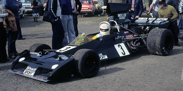 Kevin Bartlett with the Brabham BT43 at Sandown Park in February 1979. Copyright oldracephotos.com/Neil Hammond  2012. Used with permission.
