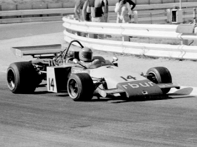 John McNicol in the side-radiator 400-17 at Kyalami in 1972. Copyright Michael Oliver  2004. Used with permission.