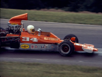 Bob Lazier in the Gordy Oftedahl Lola T330/332 at Mid-Ohio in early August 1976. Copyright R. Allen Olmstead  2011. Used with permission.