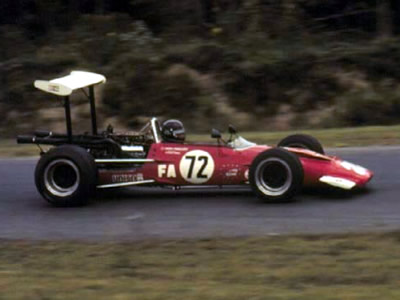Either Fred Phillips or Ron Grable in Phillips' Surtees TS5 at Lime Rock in 1970. Copyright Autosports Marketing Associates and Bill Oursler  2001. Used with permission.