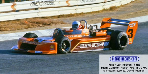Basic van Rooyen in the Team Gunston March 79B at Kyalami in 1979.  Copyright motoprint.co.za/David Pearson 2012.  Used with permission.