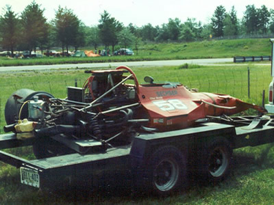 Jim Sechser's McRae GM1 after its crash at Brainerd in 1977. Copyright Todd Peterson  2005. Used with permission.