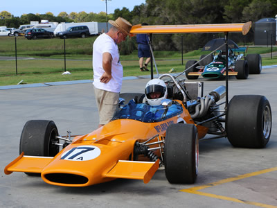 Tony Roberts in his McLaren M10A at Phillip Island in March 2016. Copyright Marcus Pye  2016. Used with permission.