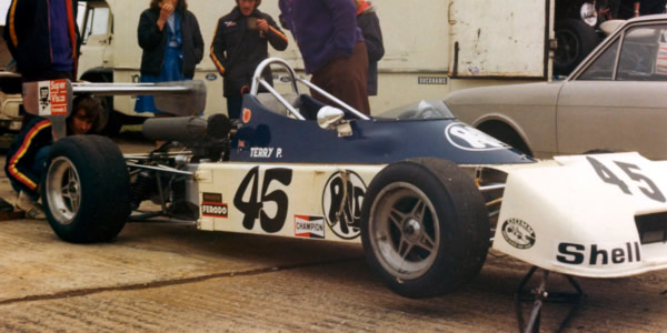 Terry Perkins' Ralt RT1, seen here at Silverstone.  Copyright Alan Raine.  Used with permission.