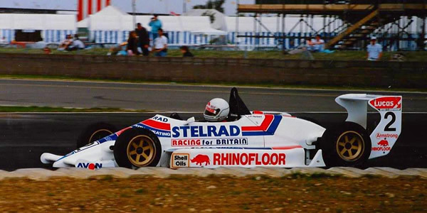 Johnny Herbert in his championship-winning Reynard 873 in June 1986.  Copyright Phil Rainford 2016.  Used with permission.