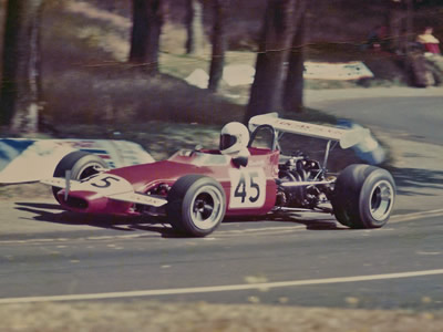 Philip Sandwith hillclimbing his Chevron B17c in the 1970s. Copyright Philip Sandwith  2015. Used with permission.