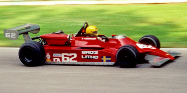 Juan Cochesa in the Toleman TA860 at Road America in 1982. Copyright Tom Schultz  2012. Used with permission.