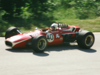 Hank Candler in the Badger 200 at Road America in 1968. Copyright Tom Schultz  2006. Used with permission.
