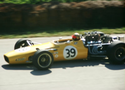 John Gunn in the Badger 200 at Road America in 1968. Copyright Tom Schultz  2006. Used with permission.