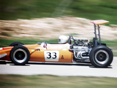 Dick Jacob's Lola T140 at the 1970 Road America June Sprints. Copyright Tom Schultz  2006. Used with permission.