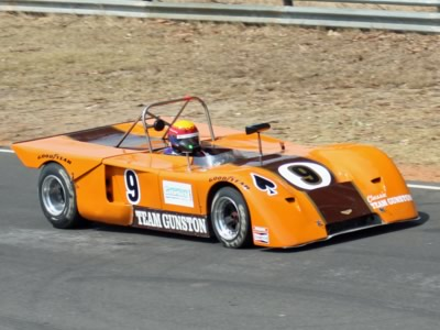 Peter Lindenberg racing his Chevron B19 at the Piper Day meeting at Killarney in February 2008. Copyright Barry Scott 2011. Used with permission.