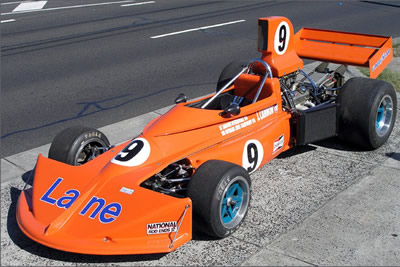 Shannon's auction picture of their '1975 March Formula 5000 Race Car'. Copyright Shannons Auctions  2007. Used with permission.