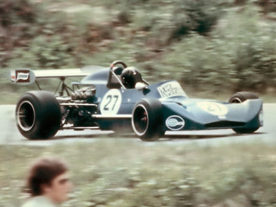 Gary Magwood in his March 73B at Westwood in May 1973. Copyright Kevin Skinner 2020. Used with permission.