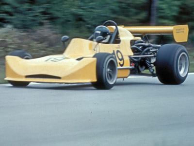 Tim Cooper in his March 73B at Westwood in May 1974. Copyright Kevin Skinner 2020. Used with permission.
