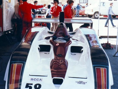 Billy Schyphers' Frissbee in the paddock at Sears Point in 1984.  Copyright Ike Smith 2007.  Used with permission.