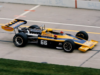 Mark Donohue in the Penske team's Sunoco DX Eagle 72 at the 1973 Indy 500. Copyright Glenn Snyder 2015. Used with permission.