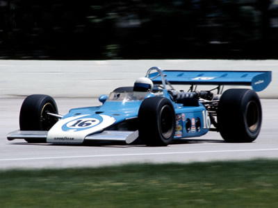 Lee Kunzman in Lindsey Hopkins' 1972 Eagle at Milwaukee in 1973. Copyright Glenn Snyder 2015. Used with permission.