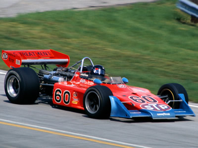 Steve Krislioff in the Patrick Team's backup 1972 Eagle at Milwaukee in June 1974. Copyright Glenn Snyder 2015. Used with permission.