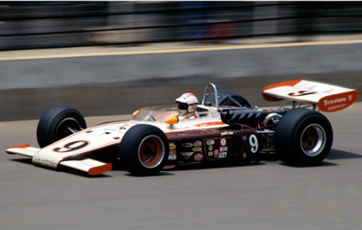 Lloyd Ruby racing his backup 1972 Eagle at the 1974 Indy 500. Copyright Glenn Snyder 2015. Used with permission.